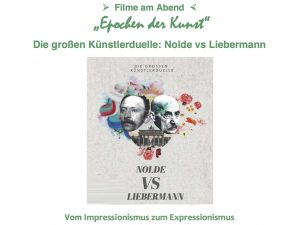 Nolde und Liebermann im Studio Rose, Schondorf