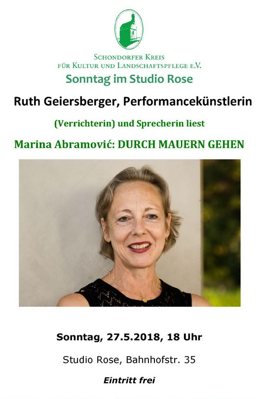 Ruth Geiersberger im Studio Rose, Schondorf am Ammersee