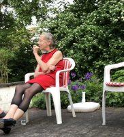 Ruth Geiersberger nach der Lesung