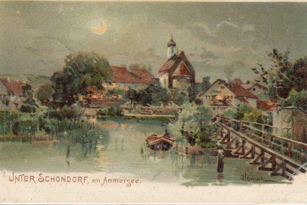 06 Hochromantische Kunstkarte von 1899