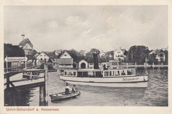 29 Die kleine 'Schondorf' (1909-1956, 80 PS) – verschickt im Jahr 1911 von Gastwirt Sailer