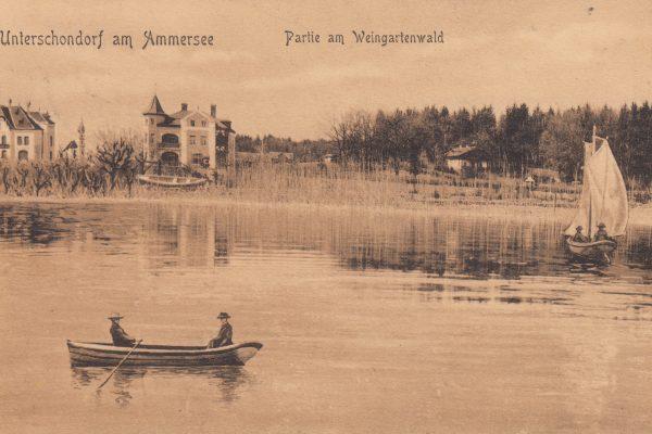 38 Per Königlicher Bahnpost 1907 verschickter Gruß an die Eltern