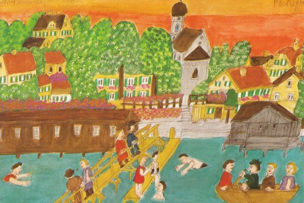 47 Wasserfarbenbild von Max Raffler – Kunstkarte aus dem Buchheim-Verlag