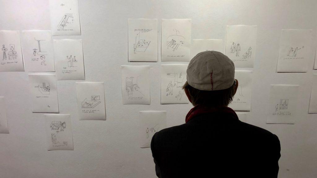 Zeichnungen von János Fischer im Studio Rose