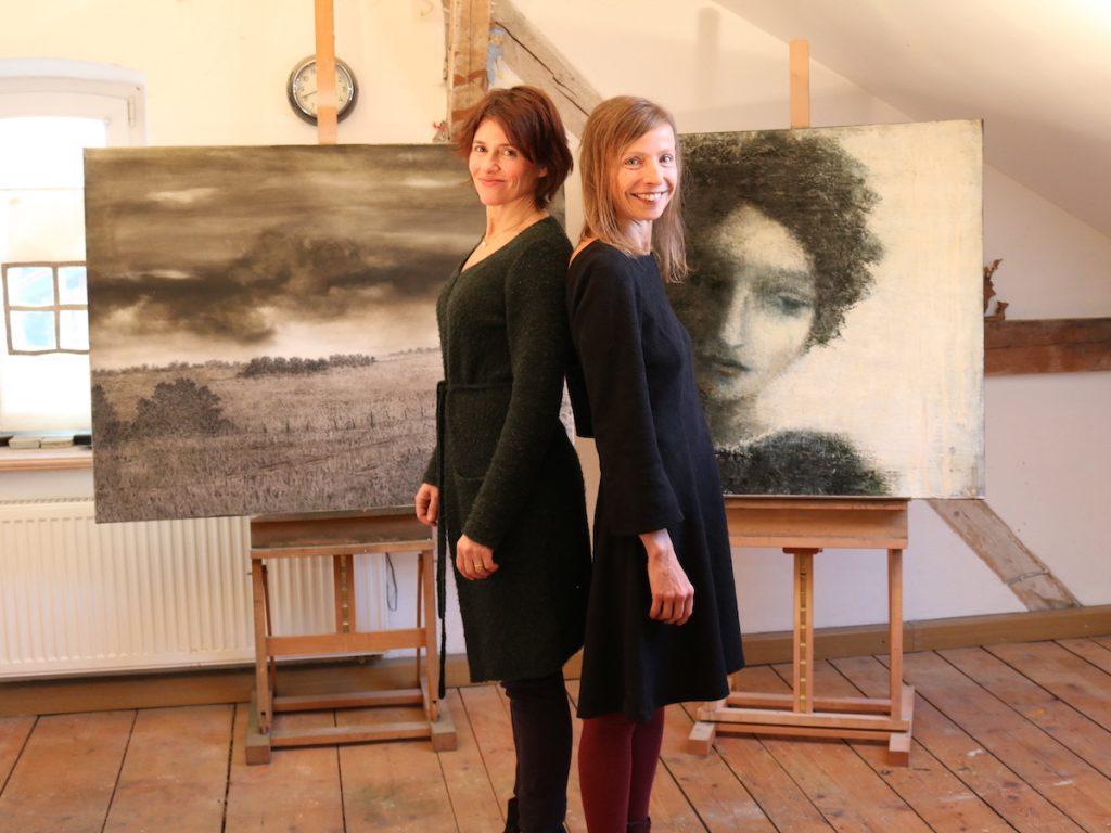 Die Malerinnen Gitte Berner-Lietzau und Elke Jordan