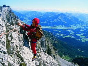 Carmen Rohrbach beim Klettern