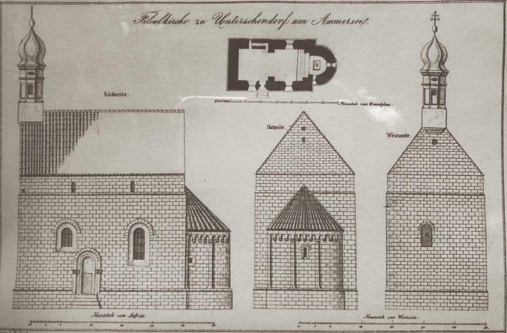 Plan der Kirche St. Jakob in Schondorf