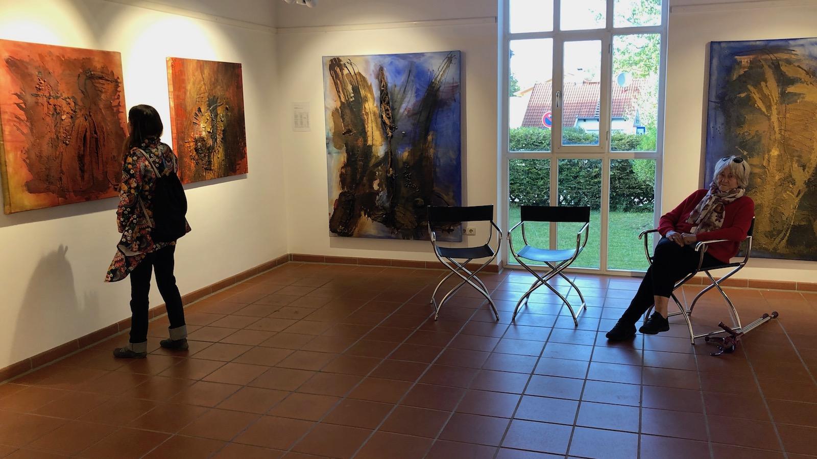 Gerti Wimmer im Studio Rose
