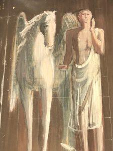 Dichter mit Pegasus