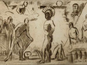 Skizze zu Achill und Priamos